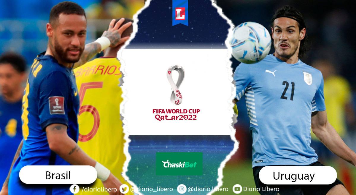 Brasil vs Uruguay EN VIVO: vía VTV y Movistar Deportes Eliminatorias Qatar 2022