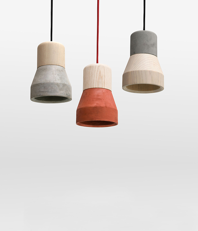 Cement Wood Lamp Free delivery + Assembly on most items