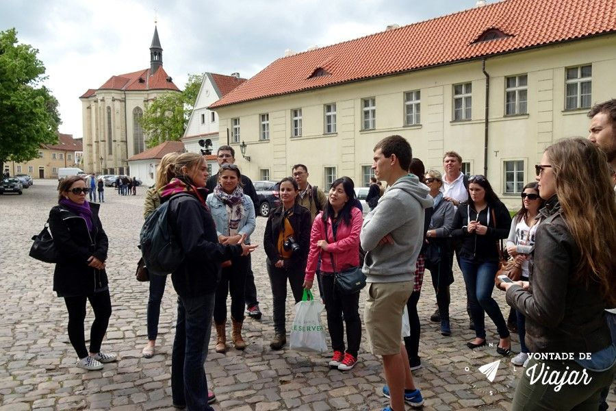 Free walking tour na Europa - guia no Castelo de Praga