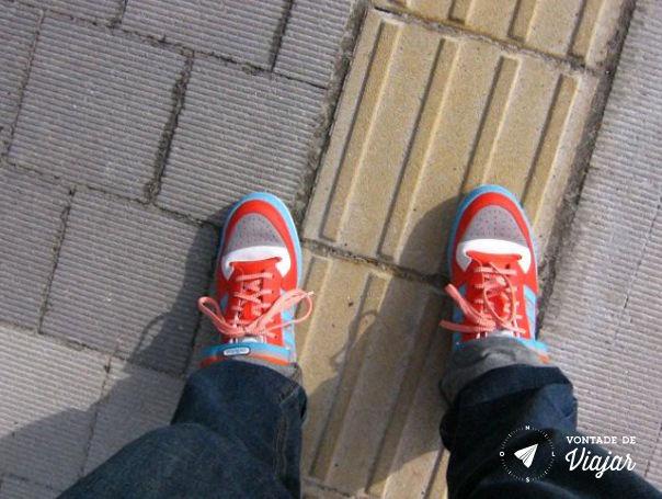 Kyoto - Olhei para os meus pes e levei um susto Estou virando japones