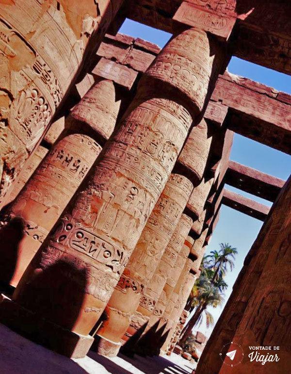 Egito - Ramesseum sala hipostila do templo de Ramses II