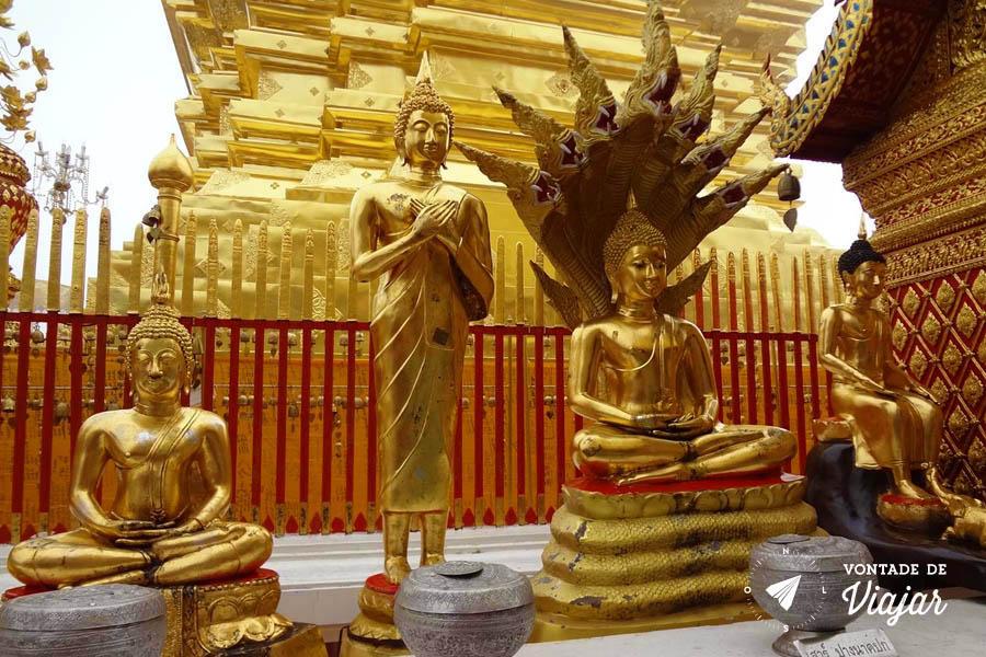 Tailandia Chiang Mai Doi Suthep - Poses de Buda a cada dia