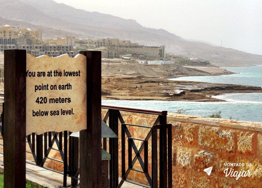 Mar Morto - 420 metros abaixo do nivel do mar