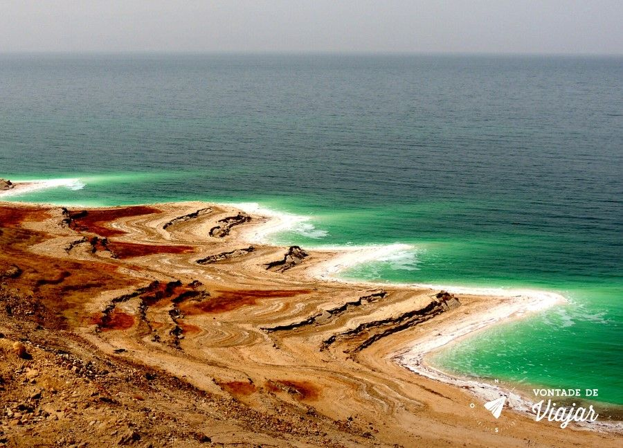 Mar Morto - O mar visto da estrada