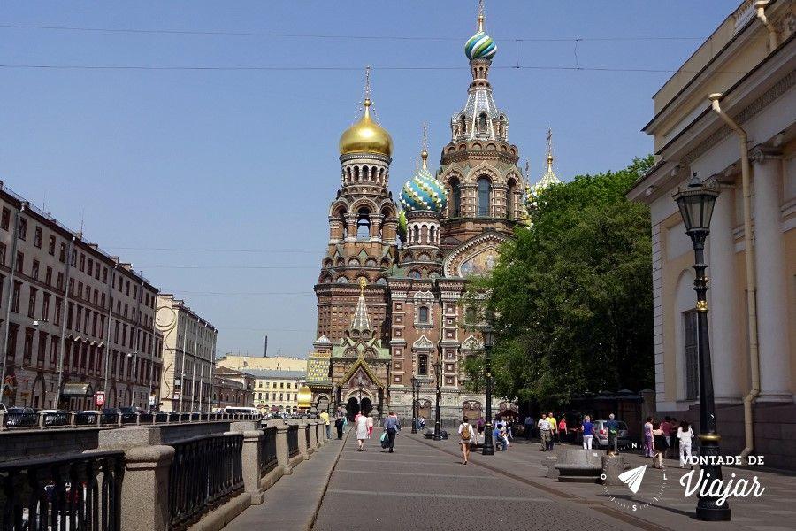 Sao Petersburgo - Catedral do Sangue Derramado na Russia