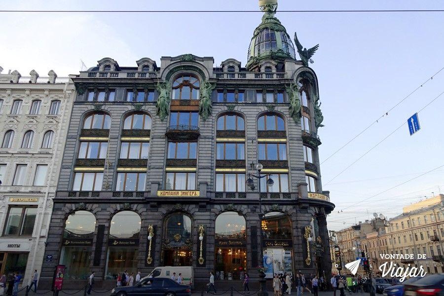 Sao Petersburgo - Predio de arquitetura art nouveau