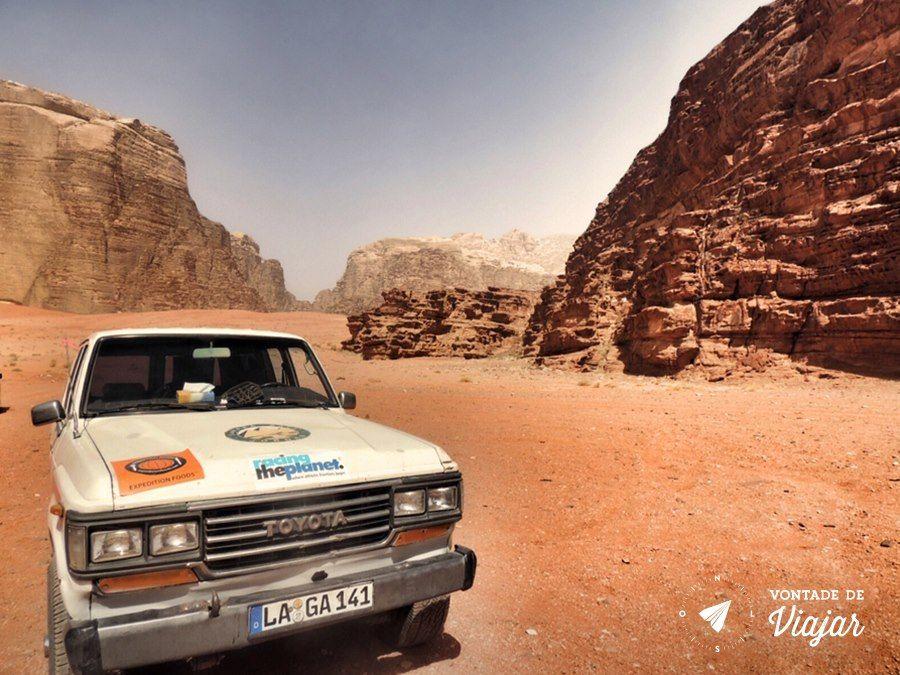 Jordania - Passeio de Jeep 4x4 no deserto de Wadi Rum