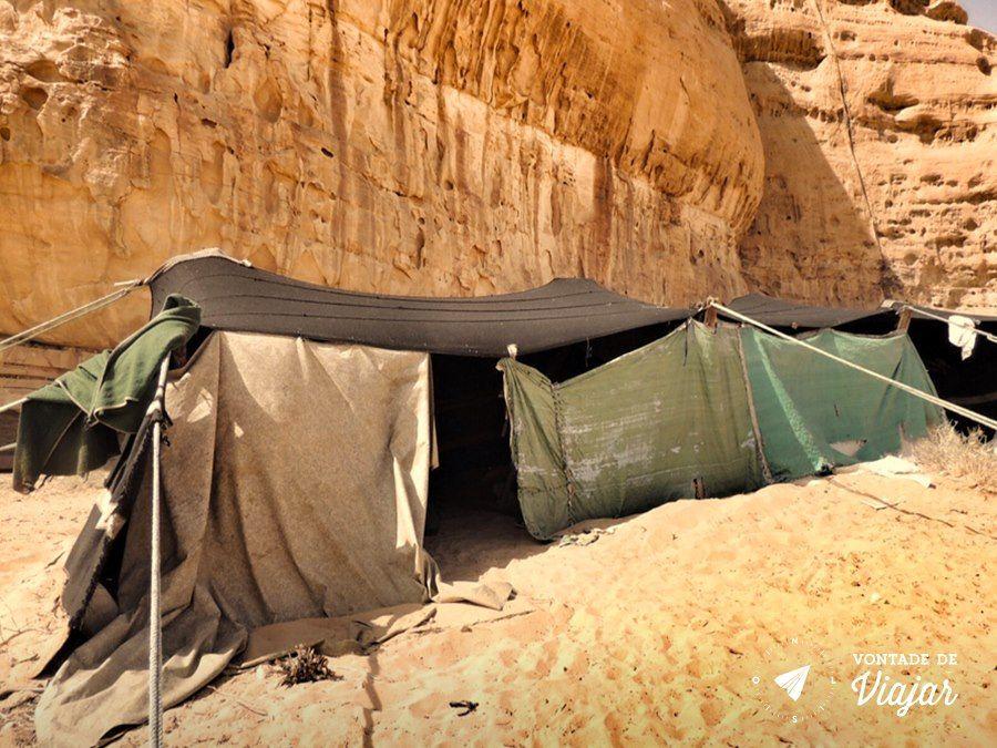 Jordania - Tenda beduina no deserto de Wadi Rum