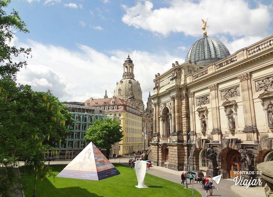 Dresden - Jardim entre o Museu Albertinum e o Bruhlsche Terrasse