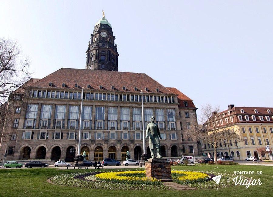 Dresden - Rathaus o predio da prefeitura