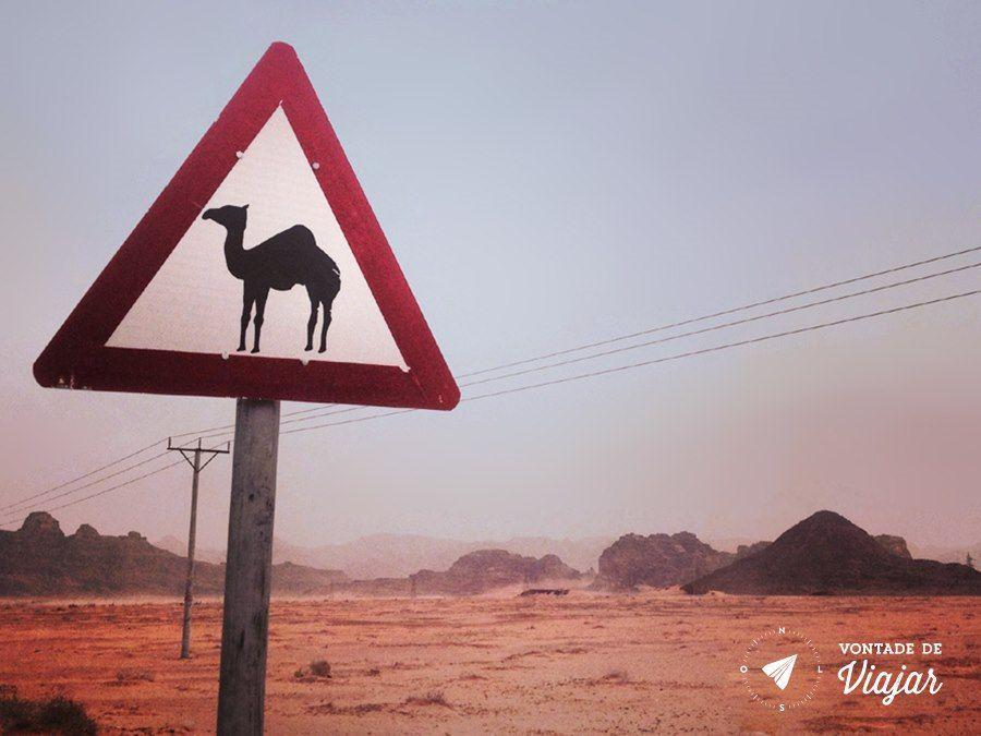 Jordania - Placa no deserto de Wadi Rum