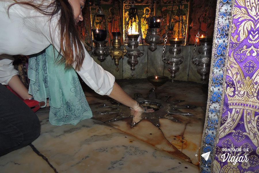 Israel - O local do nascimento de Jesus na Igreja da Natividade em Belem