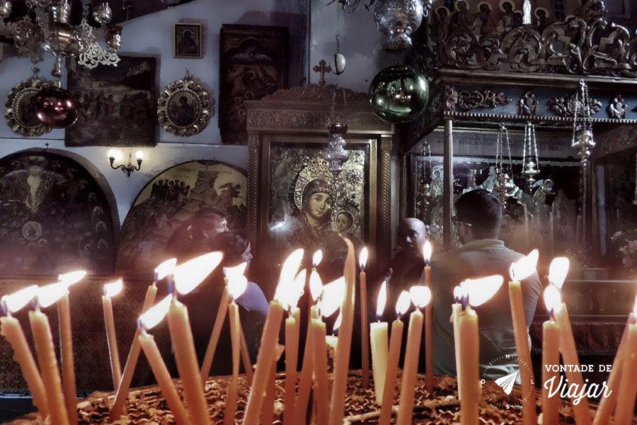 Israel - Velas na Igreja da Natividade Belem