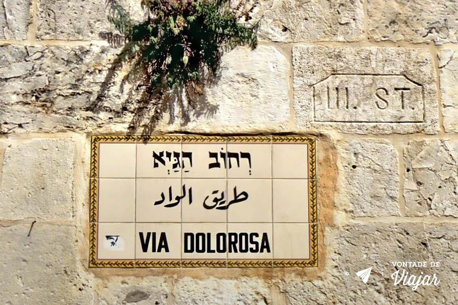 Israel - Via Dolorosa em Jerusalem