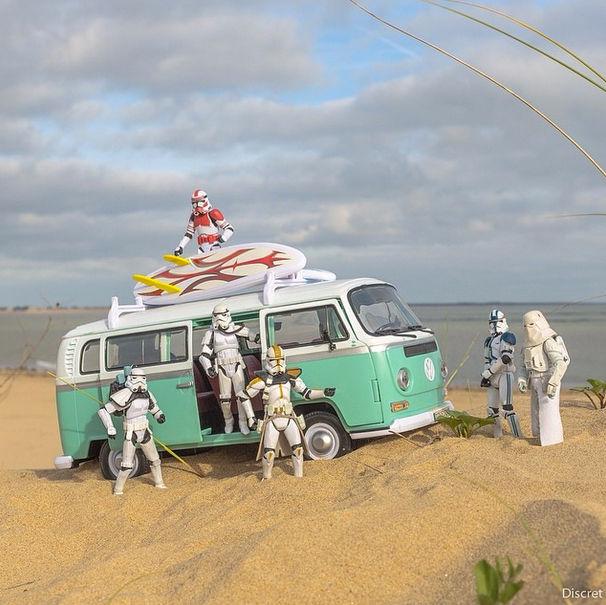 Discret - Stormtroopers na praia