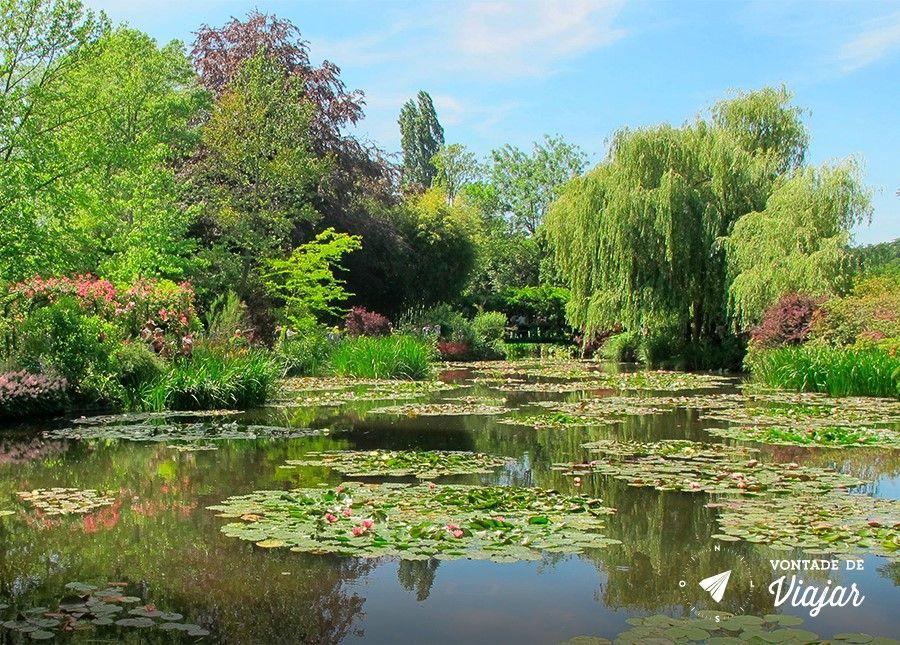 Giverny - Ninfeias no jardim de Monet em Giverny