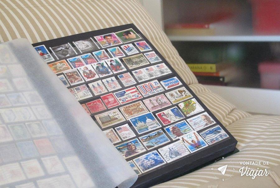 Colecao de selos - Album de selos