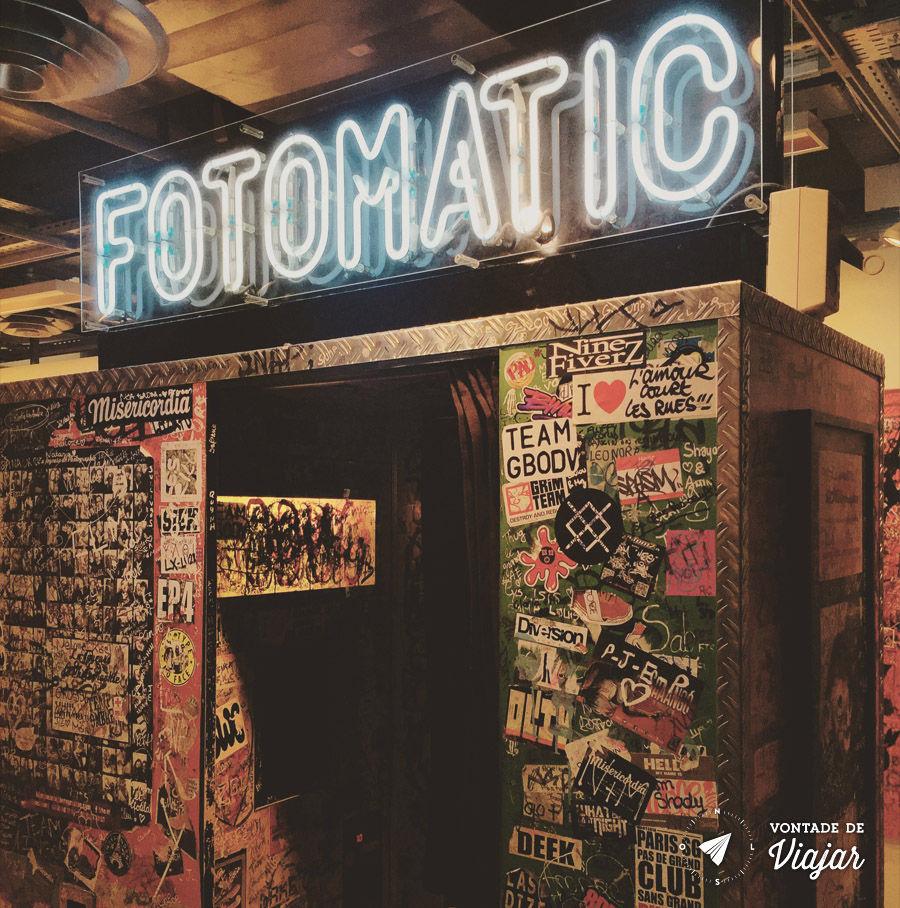 Cabines de fotos 3x4 - Fotomatic no Citadium em Paris