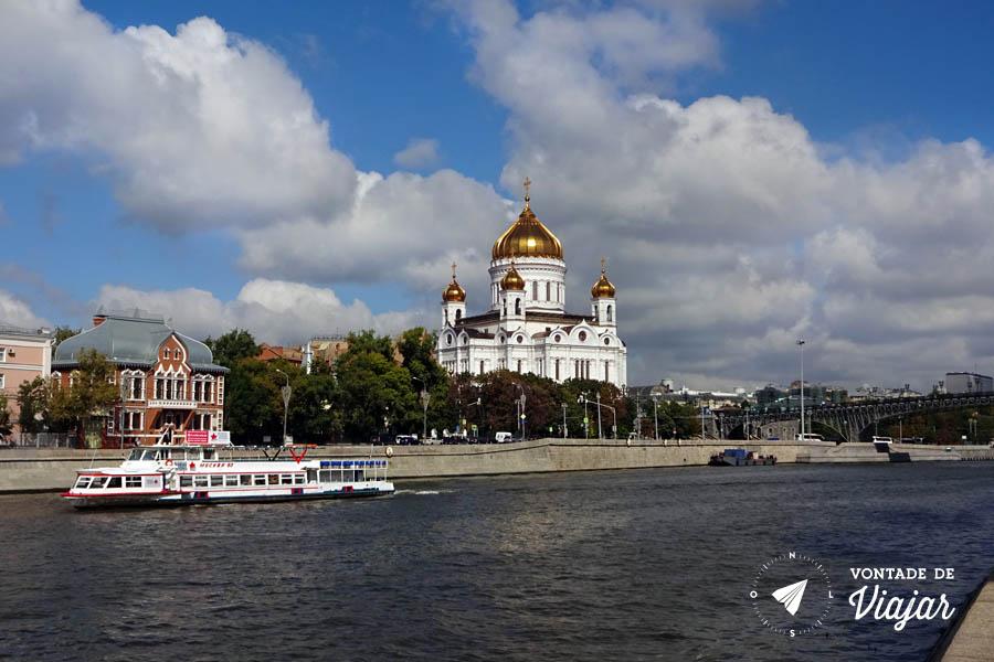 Moscou Red October - Catedral de Cristo Salvador Rio Moscou