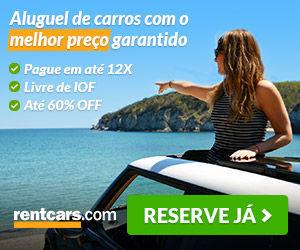 banner aluguel de carro com pagamento até 12x livre de IOF