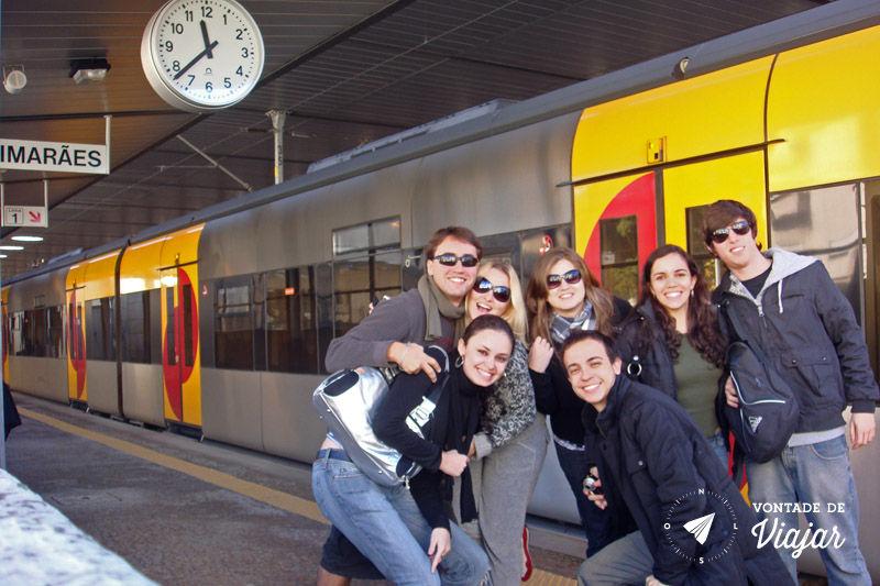 Trem na Europa - Trem em Portugal do Porto para Guimaraes