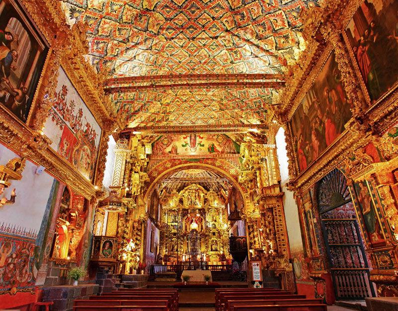 Vale Sul de Cusco Peru - Igreja San Pedro Andahuaylillas interior - Foto Divulgacao