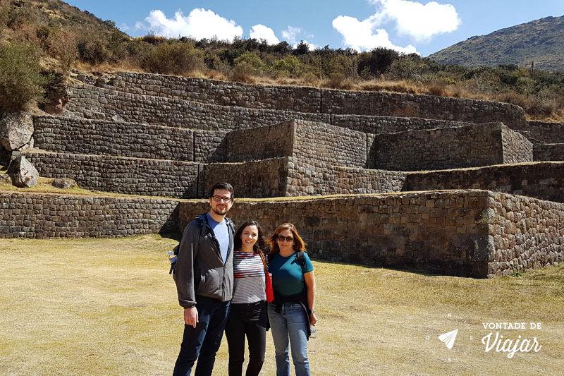 Ruínas incas no sitio arqueológico de Tipón