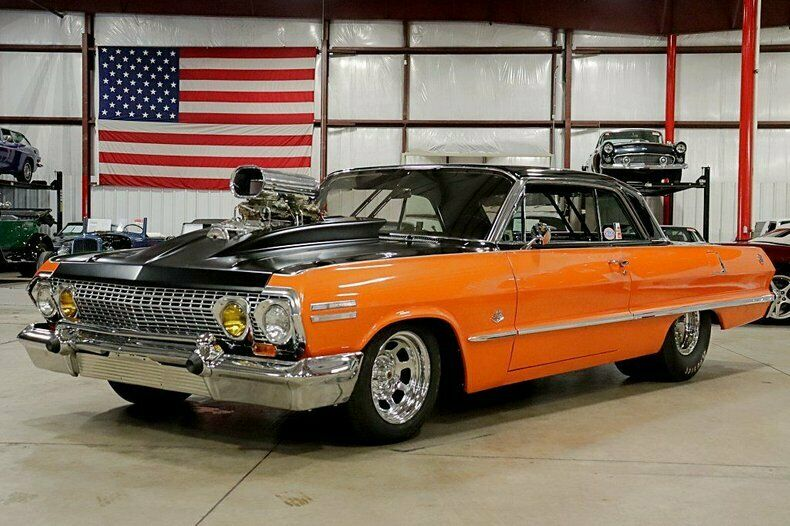 1963 Chevrolet Impala (679 Miles Black, 655ci V8, TH400 Automatic)