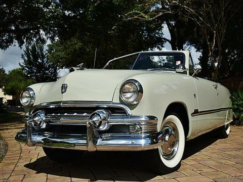 Simply Stunning 1951 Ford Custom Convertible 239ci Power top for sale
