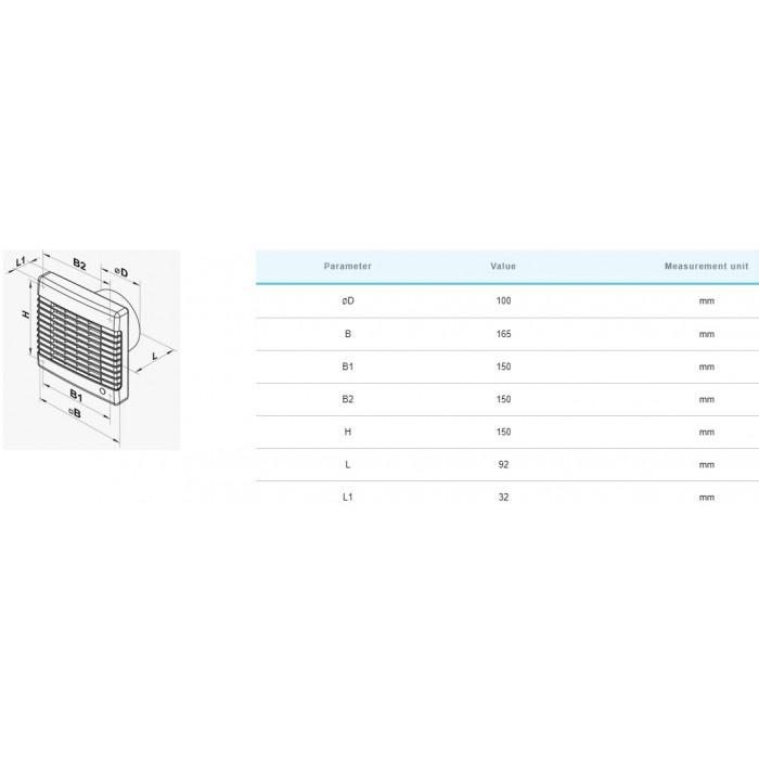 Вентилатор Vents 100MA / 18W