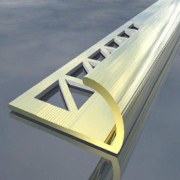 Алуминиева лайсна външен ъгъл 10мм злато 2.5 метра
