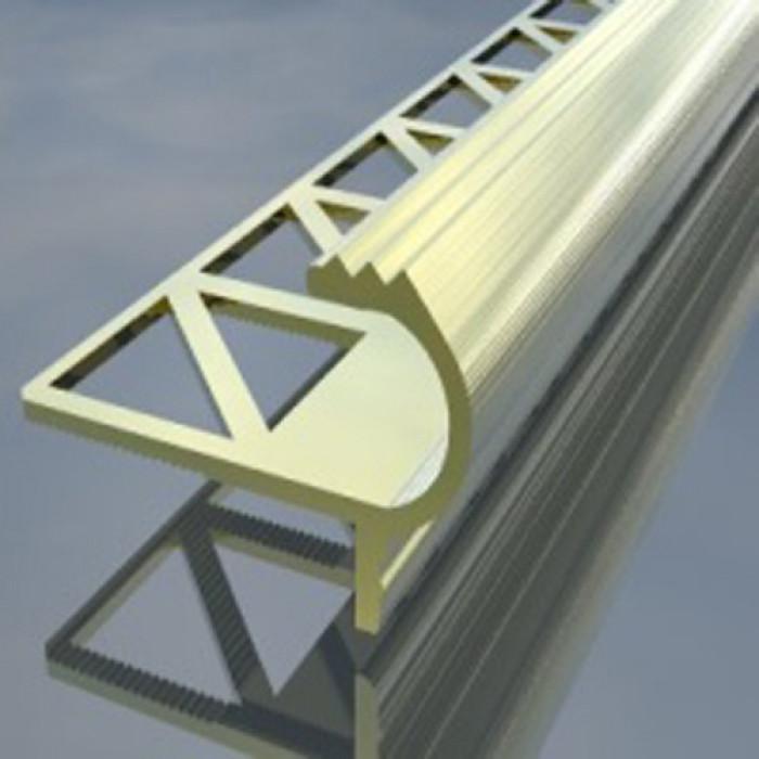 Алуминиева лайсна стъпало 8мм сребро 2.5 метра