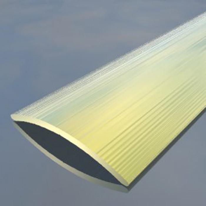 Преходна алуминиева лайсна 40мм релеф злато 2.7 метра