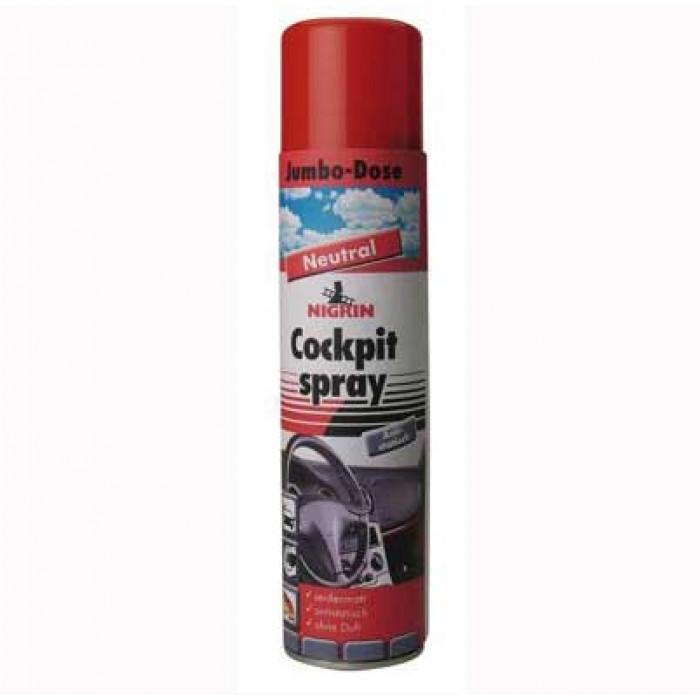 Спрей за арматурно табло Nigrin с неутрален аромат 400мл