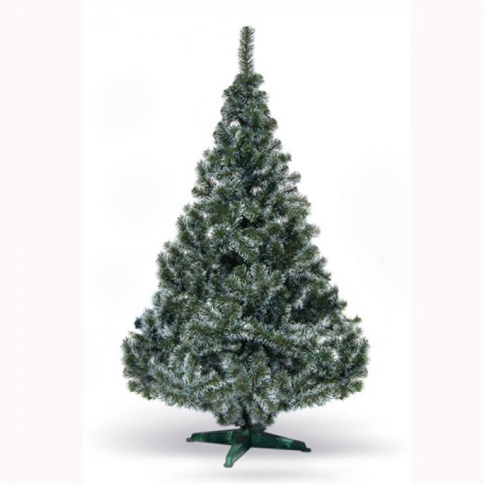 Фолийна зелена елха с бял връх София 120см