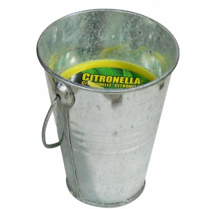 Свещ против насекоми в метална купичка Citronella 9см