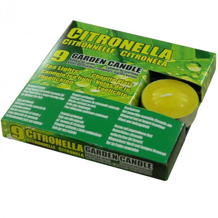 Чаени свещи против насекоми Citronella 9 броя