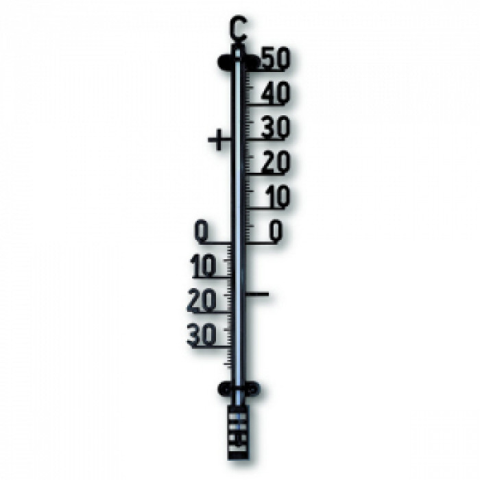 Външен пластмасов термометър / черен 420мм