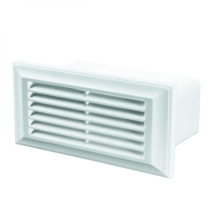 PVC решетка за въздуховод с борд Vents 871 60х204 / 137x88x73мм