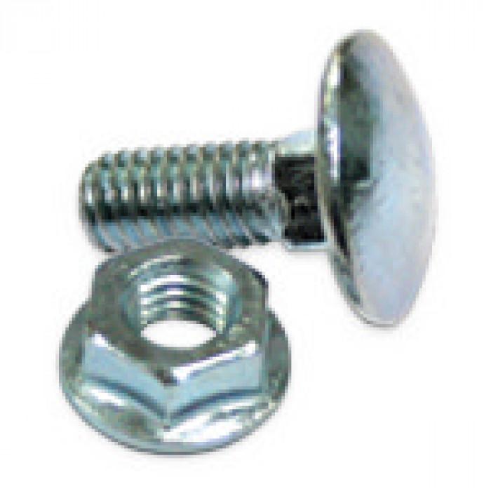 Болт и гайка за метални планки м6х16