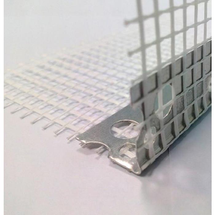 Алуминиев ъгъл с мрежа 2.5м