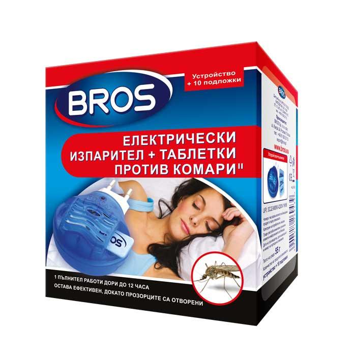 Kомплект eлектрически изпарител и таблетки против комари Bros