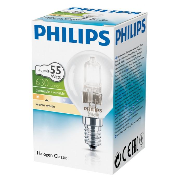 Халогенна крушка Philips Екокласик 30 глобус