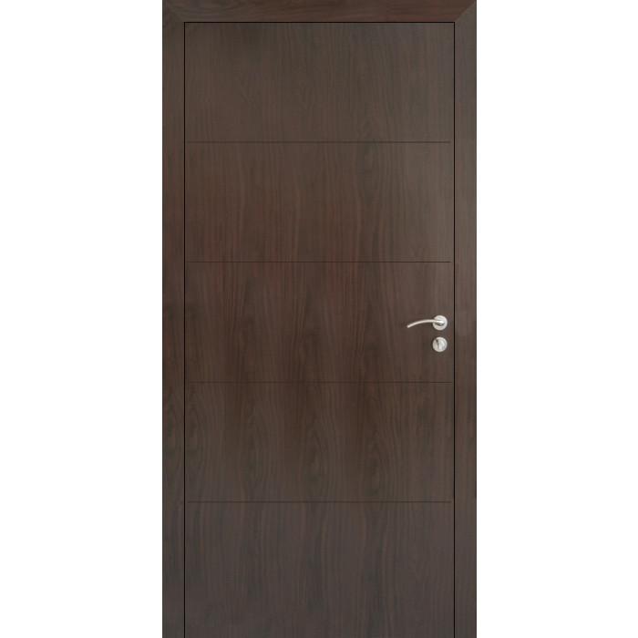Плътна интериорна врата 80х200см тъмен орех