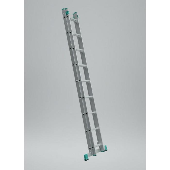Алуминиева стълба 2 рамена с 11 стъпала / 513см