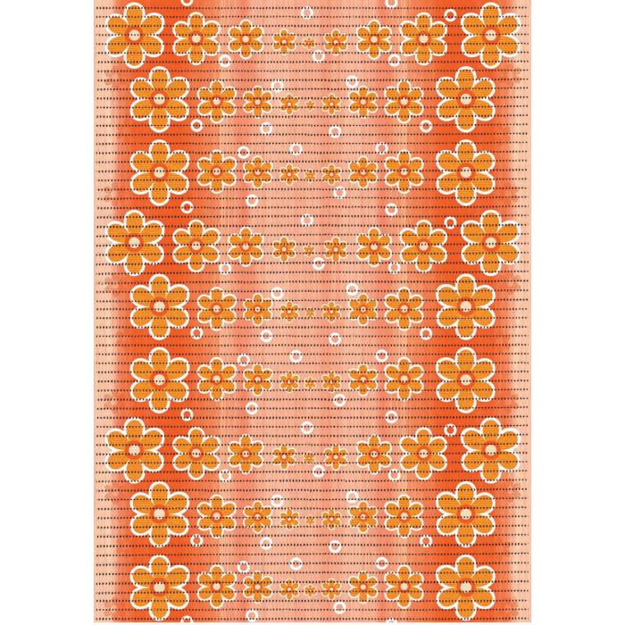Постелка за баня на цветя 65см 464/5 оранжева