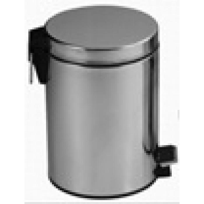 Метален кръгъл кош за боклук с педал 8л неръждаема стомана инокс DB-A
