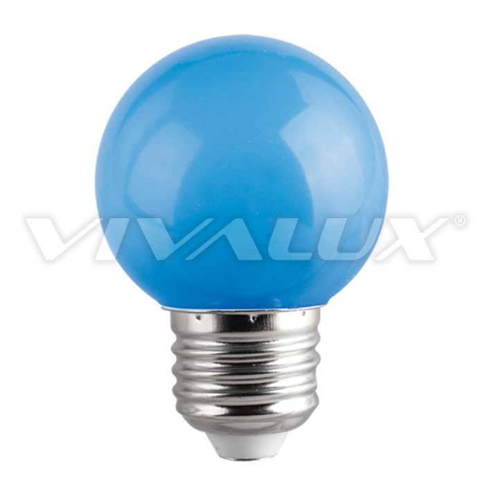 LED крушка Vivalux E27 1W синя