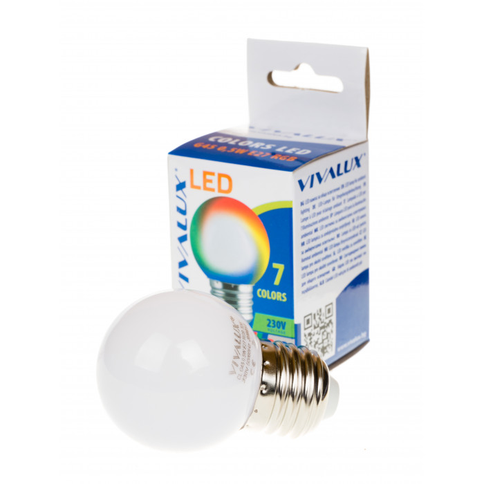 LED крушка Vivalux E27 0.5W RGB