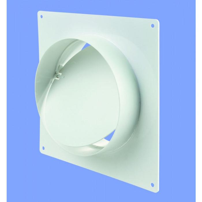 Конектор за стена с клапа / борд Vents 2521 / ø125x62x170мм